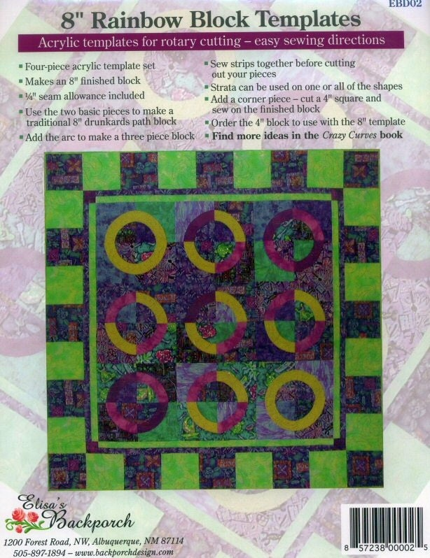 Back Porch Quilting Templates : Elisa s Backporch Rainbow Block 8