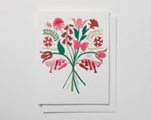 Big Bouquet of Flowers - note card
