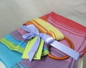 Wrap Conversion Linen Blend Ring Sling Baby Carrier - Little Frog Linen Agate Natur II - DVD included