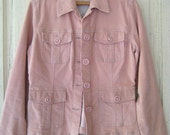 Vintage JACKET Brushed Corduroy Blush Size M-L