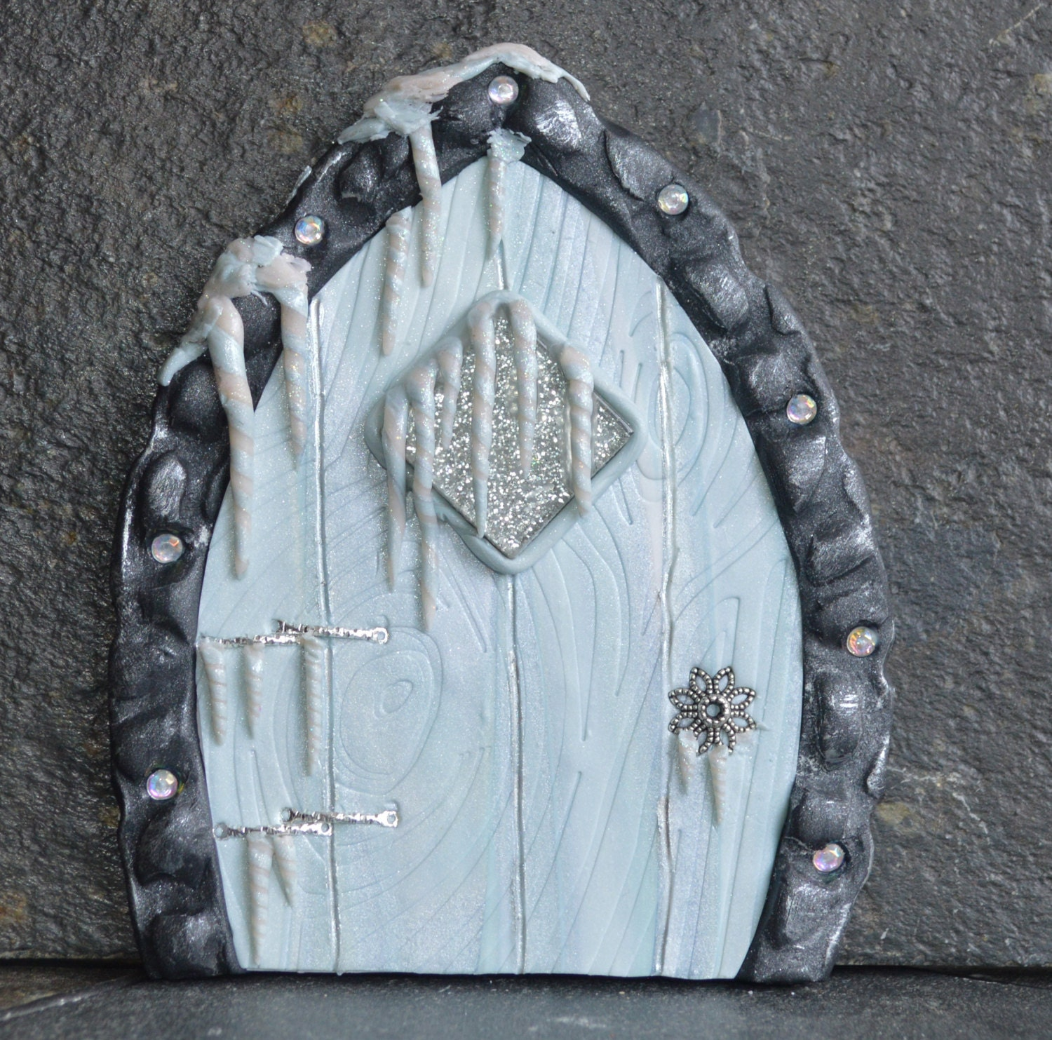 Winter is coming fairy door miniature fairy door fairy for Mini fairy door