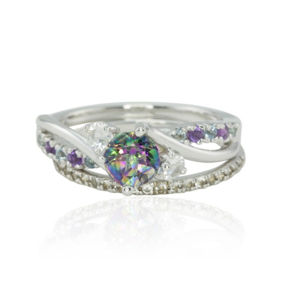 Engagement Ring Mystic Topaz Engagement Ring By
