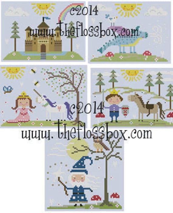 Fairy Tale Cross Stitch Pattern Collection