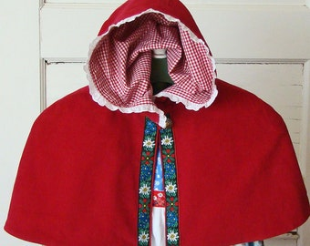 Red Riding Hood CAPELET Baby or Toddler Girls Capelet