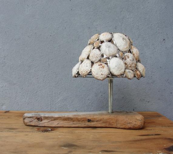 Sea Light - Tea Light Candleholder - Soldered Limpet Shells, Metal, Driftwood