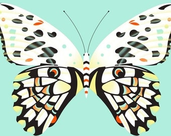 lime butterfly limited edition print