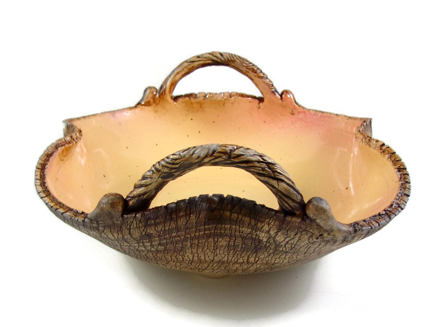 Large Ceramic Serving Bowl With Handles Fall