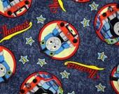Fabric Thomas the Tank Stars Denim Blue Half Yard