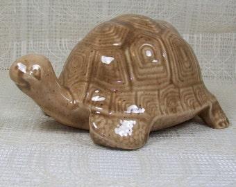 Turtle in Light Brown - Ceramic - Handmade