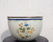 Vintage Enamel Bowl, Vintage Kobe Kitchen Bowl, Enamel cookware
