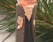 Benjamin FRANKLIN Ornament, hand painted on wood in USA