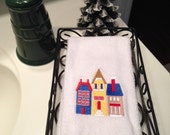 Scandinavian Village Finger Towel