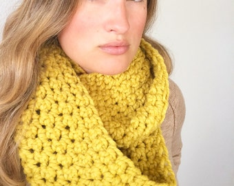 Infinity scarf cowl in Mustard