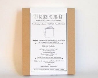 Berries & Cream, Red and White DIY Bookbinding Kit, Make Your Own Journals!