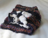 Donation Comfort for Critters / Handmade knitted Cat Dog bed /extra thick Blanket cozy soft Pet Lover gift washable help support rescue pets