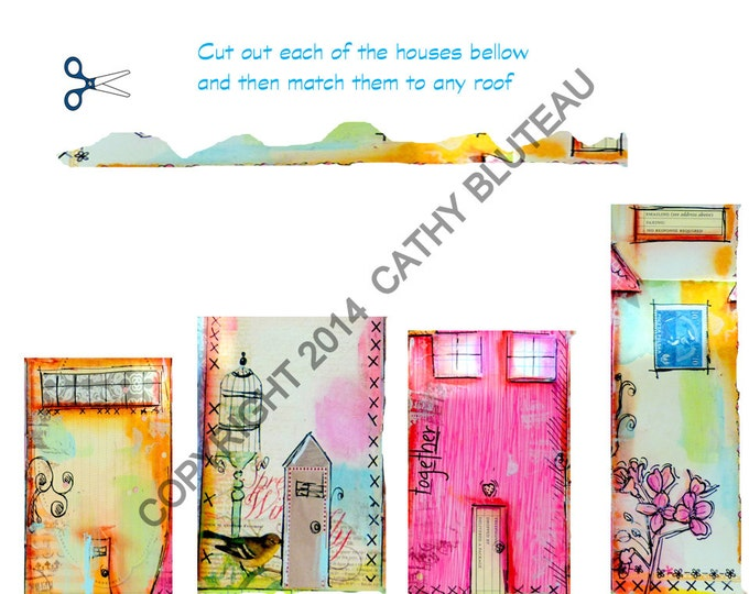 Digital Files for It takes a Village whimsical houses