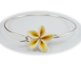 Plumeria Sterling Silver Bracelet - Plumeria Jewelry Collection