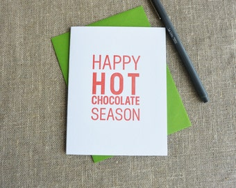Letterpress Holiday Card - Happy Hot Chocolate Season