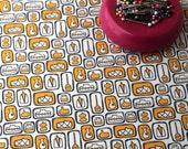 Retro Fabric / Mid Century Modern / Atomic Fabric / Fat Quarters / Retro Kitchen / Hand Drawn / Kitchen Curtains