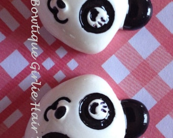 Panda Resin, MTMG, M2MG, Hairbow Center, Jewelry Supply, Bracelet Charm, Necklace Charm, Ring, Scrapbooking
