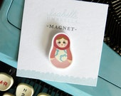 Illustrated Matryoshka Russian Doll Handmade Magnet