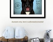 Black German Shepherd Coffee company artwork illustration giclee signed artists print by stephen fowler Pick A Size