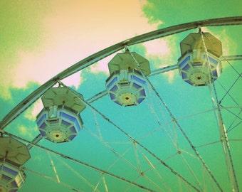 Country Fair Ferris Wheel #4 - Nostalgic Vintage Style Nursery Decor - Original Color Photograph by Suzanne MacCrone Rogers