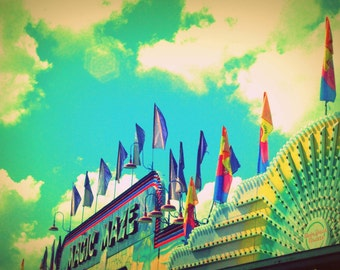 Magic Maze - At the Fair - Nostalgic Vintage Style Nursery Decor - Original Color Photograph by Suzanne MacCrone Rogers