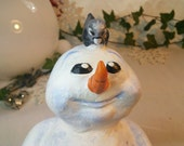 Snowman decorative figure Christmas Winter Pete and Junco