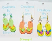 FUN Hand Created Earrings CHOOSE COLOR Green Orange Yellow