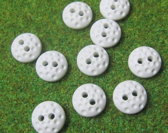 Small Golf Ball Sports 2-Holed Novelty Buttons