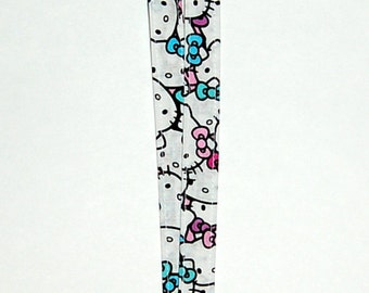 Hello Kitty Faces Lanyard - Handcrafted from Hello Kitty Fabric