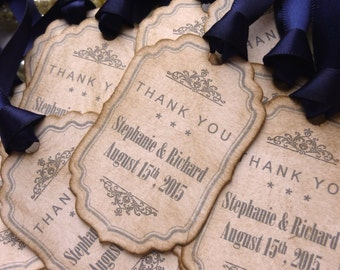 Wedding Favor Tags, Wedding Favors, Gift Tags, Personalised Labels, Candy Jar Labels, Navy Blue, Bottle Labels, Thank You Tags