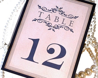 Wedding Table Numbers, Vintage Table Numbers, Navy Wedding Decor, Pearl Table Numbers, Vintage Wedding Signs, Formal Wedding Numbers