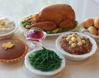 How to Make a Miniature Dollhouse Turkey Dinner Tutorial Step by Step Photos Download PDF