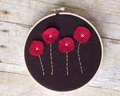 Custom listing for Gretchen - Red poppies wall art