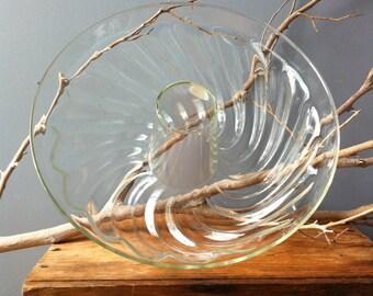 VINTAGE GLASS...Schott West Germany - 9 inch - cake form - bundt - glass retro home