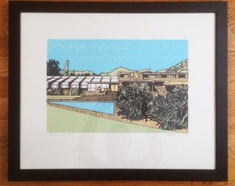 Framed Taliesin Screenprint