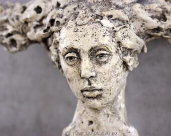 OOAK Woman relief, sculpture, wall hanging, art