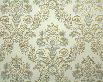 Vintage Wallpaper - Metallic Gold and Silver Damask