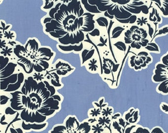 Fabric Fresh Cut Flowers #5020 in Midnight Sandi Henderson Navy Blue 1/2 Yard Michael Miller