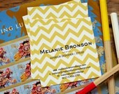 Chevron Calling Card  / Business Card / Mommy Card Single Sided - set (50)