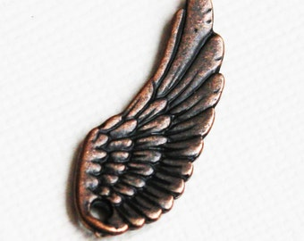 10 pcs of antique Copper  Angel wing 22x10mm