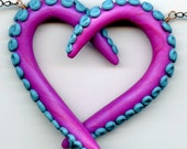 Octopus Love Necklace - Purple and Turquoise
