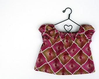 Fits like American Girl Doll Clothes - Rose Ballad Peasant Top in Fuchsia
