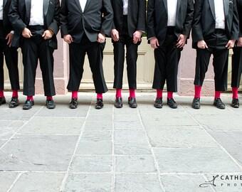 David's Bridal Ruby Pink grooms socks, groomsmen socks, wedding gift, bridal party