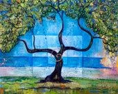 Small Print Tree Art - Under the Olive Tree