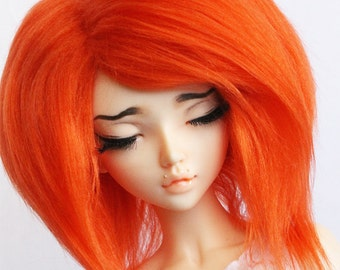 BJD MSD minifee wig Orange fake fur wig MonstroDesigns
