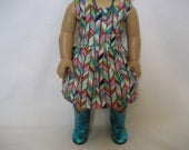 Reserved for Amy -- 18 Inch  Doll Clothes - Lots of Turquoise Dress - Last One