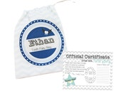 Boys Shield Personalised Tooth Fairy Bag